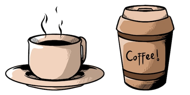Koffie pack ontwerp illustratie