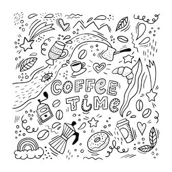 Koffie patroon achtergrond