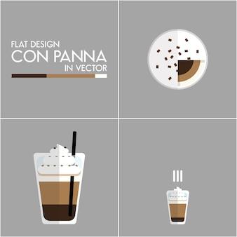 Koffie pictogram illustratie instellen