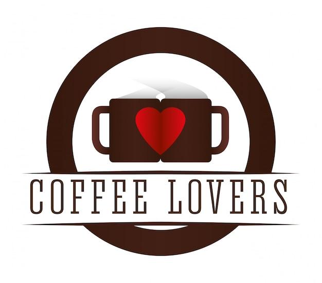 Koffie pictogram ontwerp