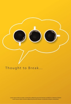 Koffie poster advertentie flayers illustratie