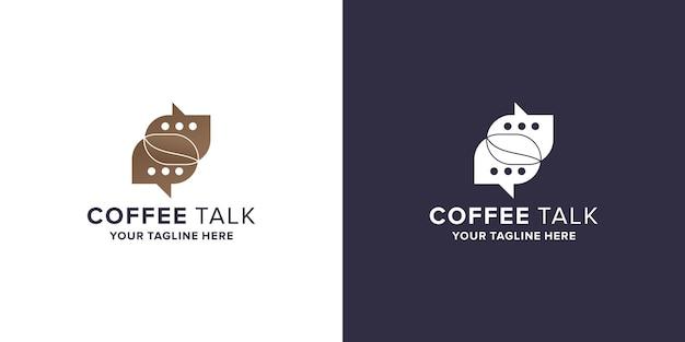 Koffie praten logo ontwerp