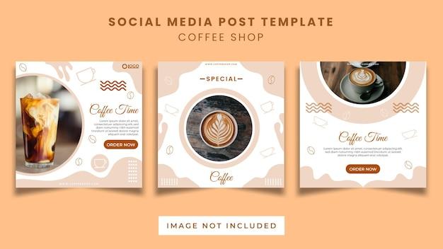 Koffie social media bericht