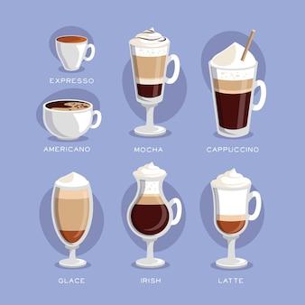 Koffie soorten concept