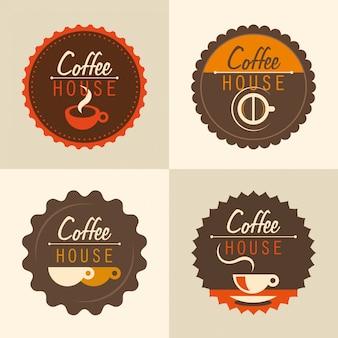 Koffie stickers