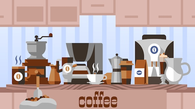 Koffie thuis concept