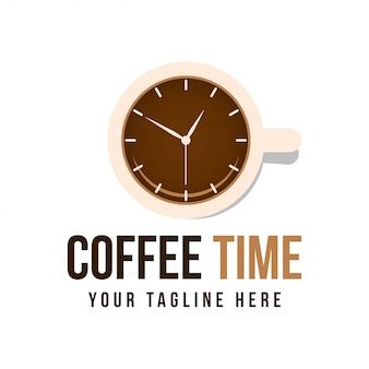 Koffie tijd logo concept