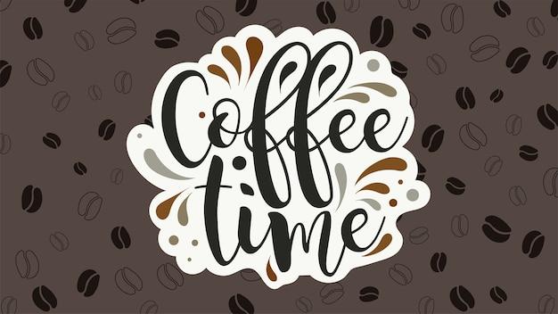 Koffie tijd vector banner.