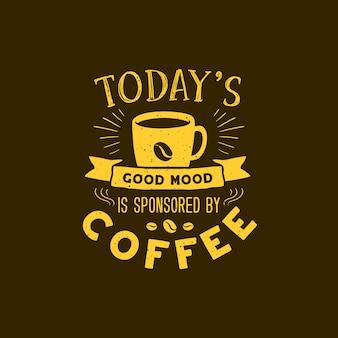 Koffie typografie citeert illustraties