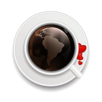 Koffie uitnodiging achtergrond vectorillustratie