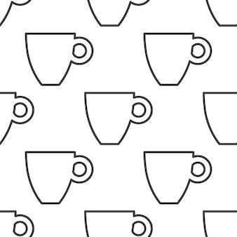 Koffie, vector naadloos patroon, bewerkbaar kan worden gebruikt voor webpagina-achtergronden, opvulpatronen