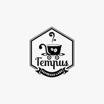 Koffie vintage logo ontwerp