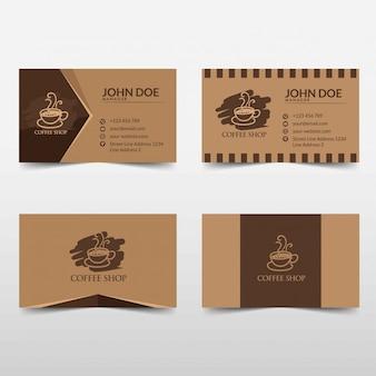 Koffie visitekaartje vector sjabloon illustratie