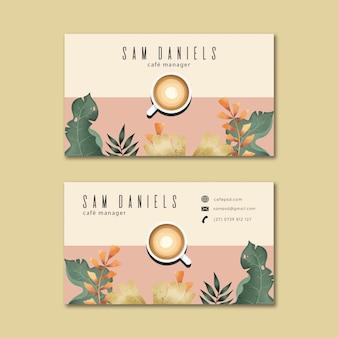 Koffie visitekaartje