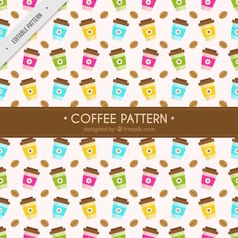 Koffie weg te nemen patroon