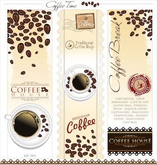 Koffie winkel achtergrond