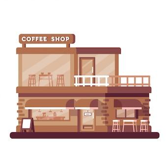 Koffie winkel gebouw