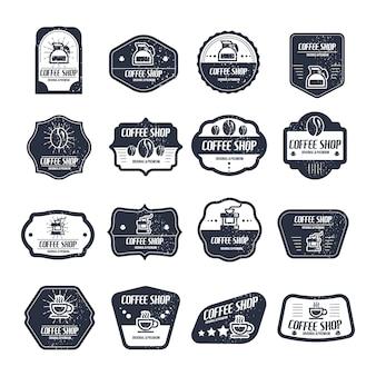 Koffie winkel logo collectie
