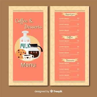 Koffie winkel menusjabloon