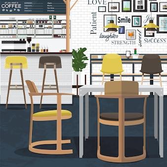 Koffie winkel ontwerp kunst
