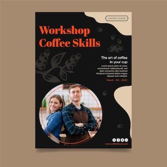 Koffie workshop verticale flyer-sjabloon