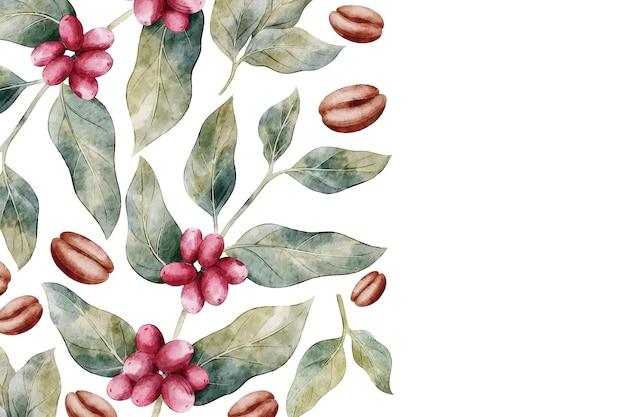 Koffieachtergrond met bonen