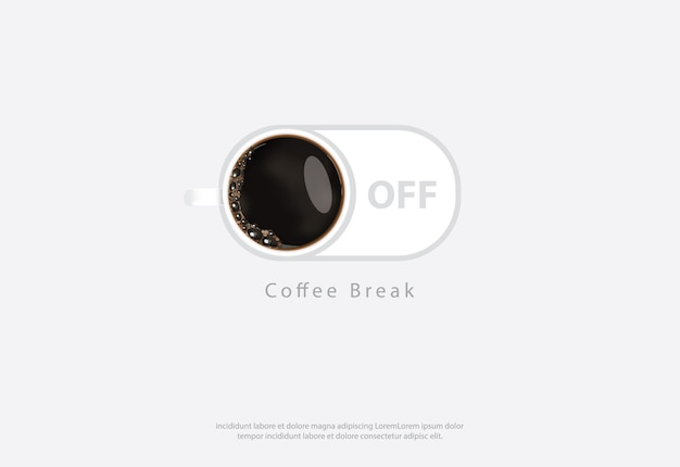 Koffieaffiche advertentie flayers vector illustration