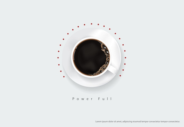 Koffieaffiche advertentie flyers illustratie