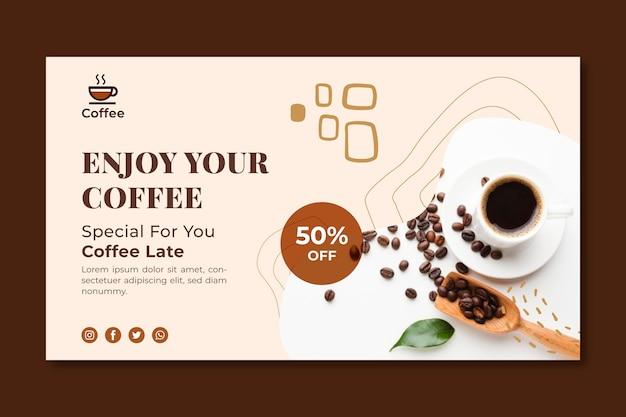 Koffiebanner van topkwaliteit