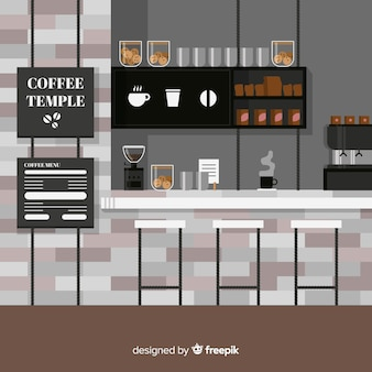 Koffiebar illustratie
