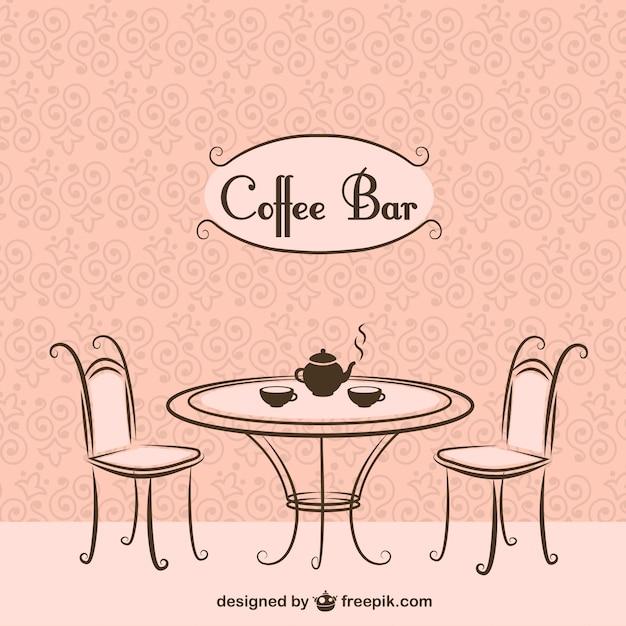 Koffiebar stoelen en tafel