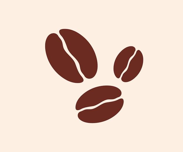 Koffiebonen pictogram. vector illustratie