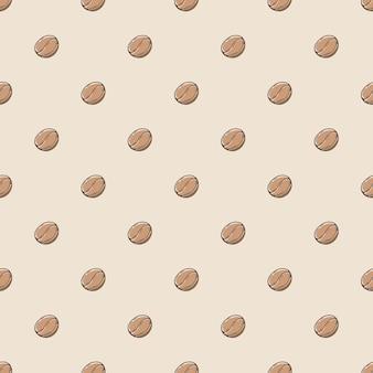 Koffieboon naadloze patroon achtergrond