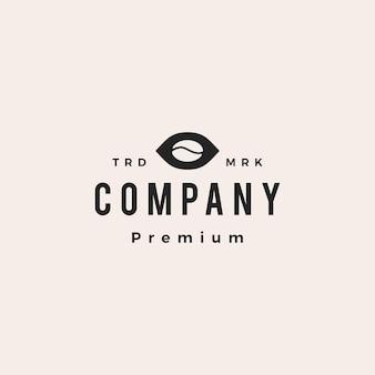 Koffieboon oog visuele hipster vintage logo vector pictogram illustratie