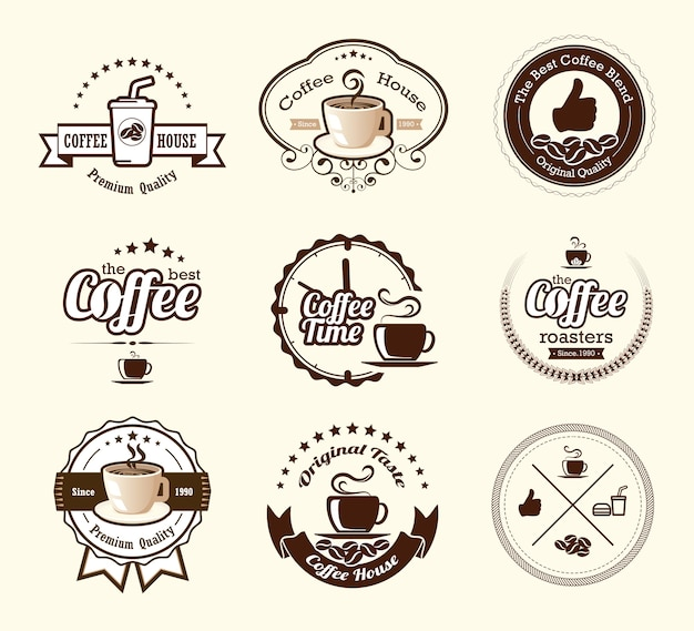 Koffieetikettencollecties