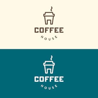 Koffiehuis. creatief embleem. geïsoleerd