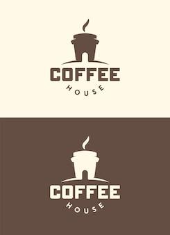 Koffiehuis. creatief logo. geïsoleerd