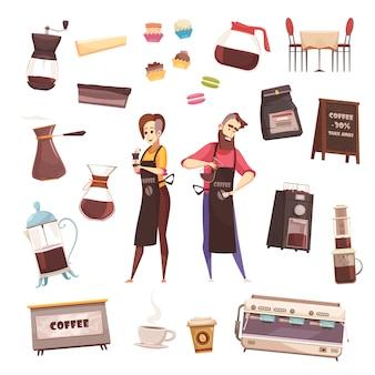 Koffiehuis decoratieve s set