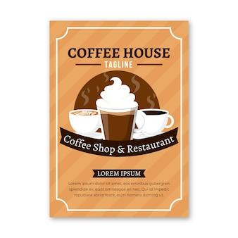 Koffiehuis folder sjabloon