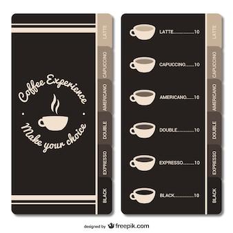 Koffiehuis menu