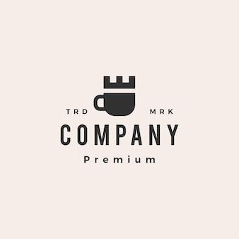 Koffiekasteel hipster vintage logo