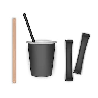 Koffiekopje afhaalmaaltijden ontwerp