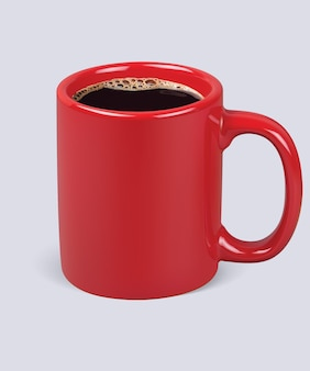 Koffiekopje geïsoleerd.
