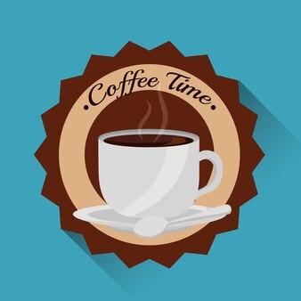 Koffiekopje heet fris embleem