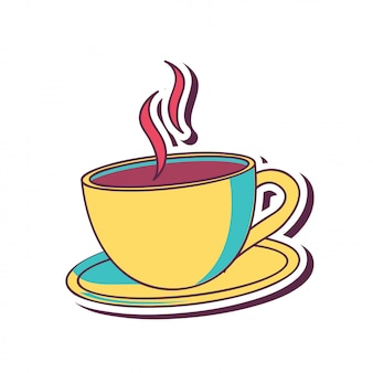 Koffiekopje in geel