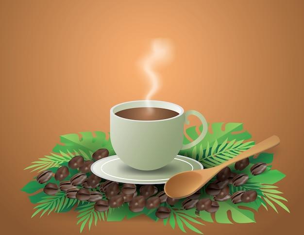 Koffiekopje met zachte rook
