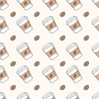 Koffiekopje naadloos patroon