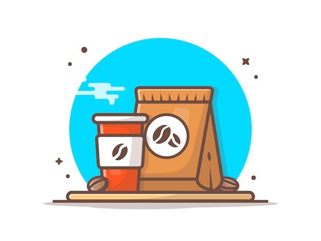 Koffiekopje op tafel pictogram
