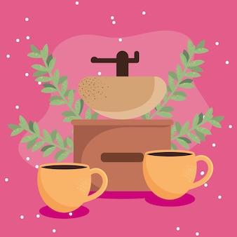 Koffiekopjes en broodrooster