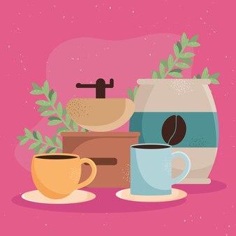Koffiekopjes en tas